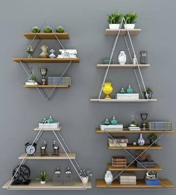 铁艺装饰架, 置物架, 摆件组合, 摆物架, 现代