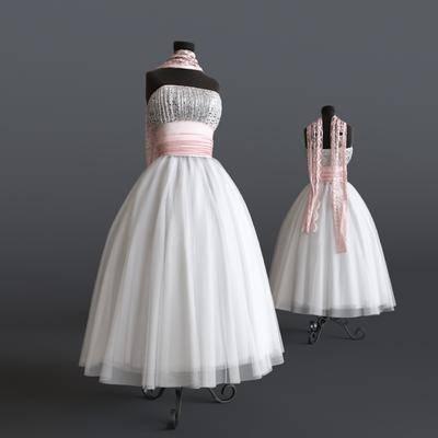 婚纱, 模特, 服饰