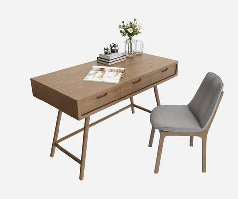 书桌椅, 书桌, 现代书桌