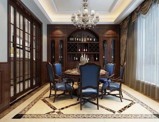 美式餐厅, 餐厅, 餐桌椅