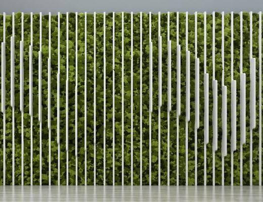 背景墙, 植物墙, 现代