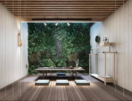 茶室, 茶桌椅組合, 裝飾架, 茶具組合, 新中式