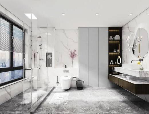 卫浴, 洗浴组合, 洗手盆, 马桶