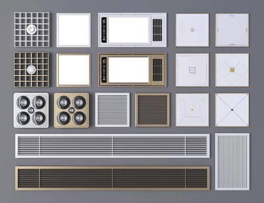 现代, 浴霸, 通风口, 铝板, 单体, 工具