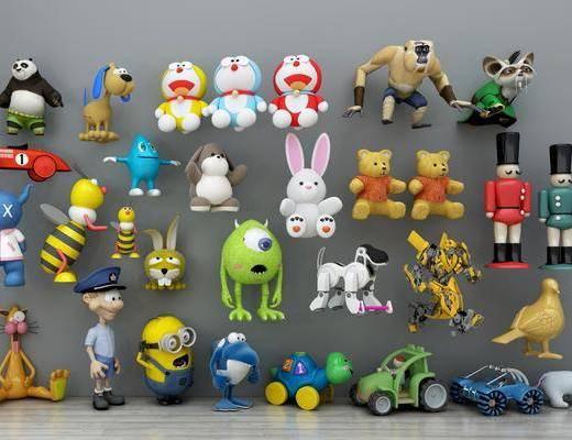 玩偶, 现代儿童玩偶, 儿童玩偶, 玩具, 娃娃, 哆啦A梦, 公仔, 汽车, 现代