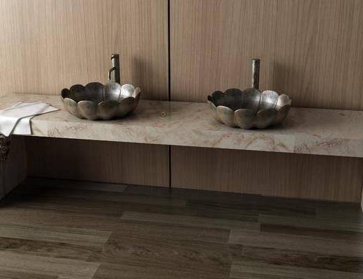 洗手台组合, 中式