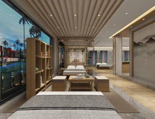 新中式家纺, 新中式床, 家纺, 新中式, 家具, 现代