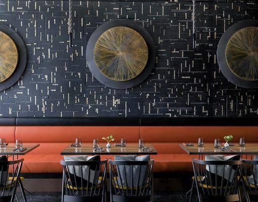 现代, 餐厅, 餐桌, 餐椅