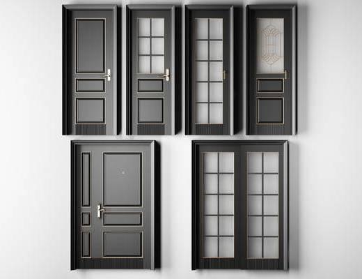 门, 子母门, 卫生间门, 推拉门, 厨房门, 阳台门, 现代