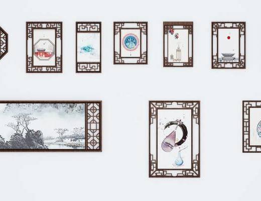 中式画框, 画框, 花格画框