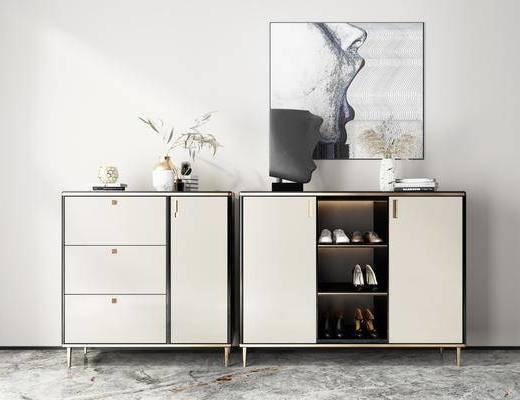 現代, 輕奢, 鞋柜, 組合