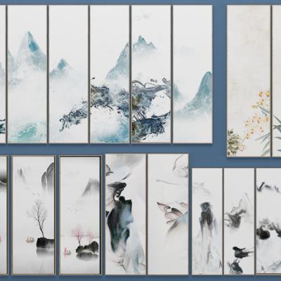 新中式装饰画, 壁画, 挂画, 画, 中式