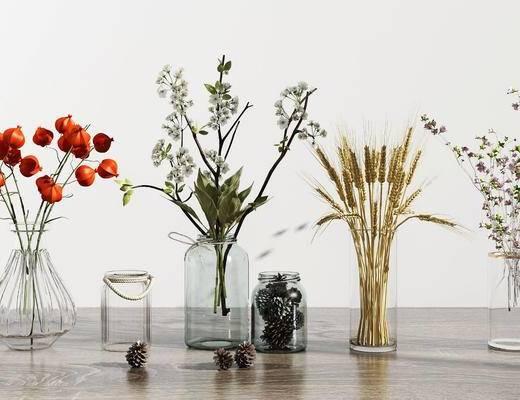 花瓶, 花卉, 花瓶组合