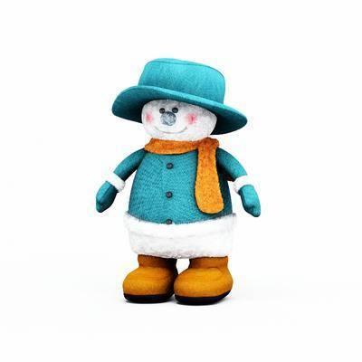 玩具, 玩偶, 布偶, 雪人