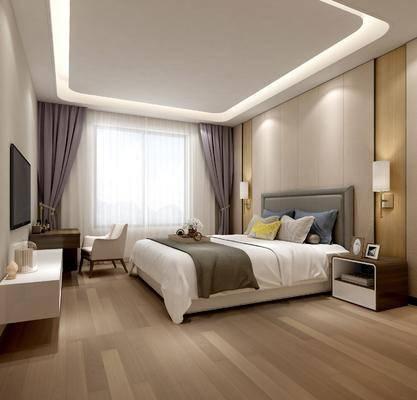 卧室, 现代卧室, 床具组合