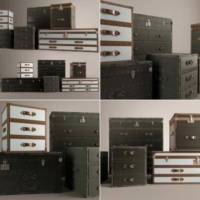 储物箱, 皮革储物箱, 现代