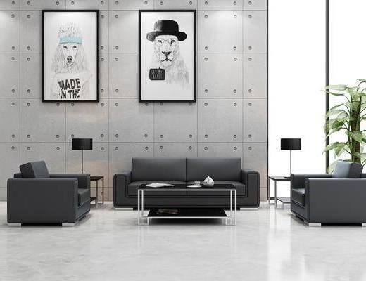 现代沙发组合, 沙发茶几组合, 现代沙发茶几组合