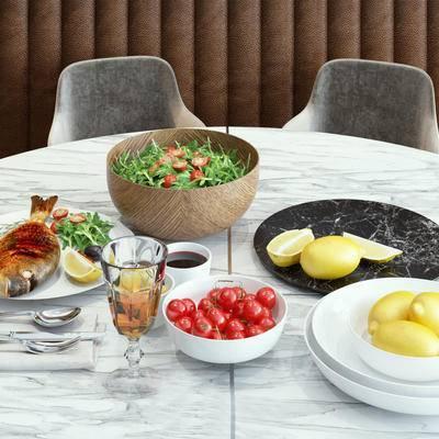 水果, 器皿, 盘子, 餐桌摆件