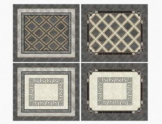 瓷砖拼花, 拼花组合, 新中式