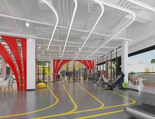 健身室, 健身设施, 屏幕