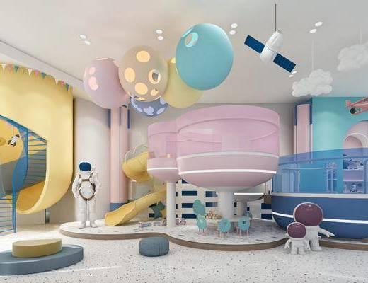 工装, 现代风格儿童玩耍区