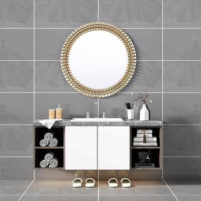 现代洗手盆, 洗手盆, 卫浴柜架