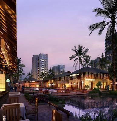 商业建筑, 建筑, 水池, 园林, 景观