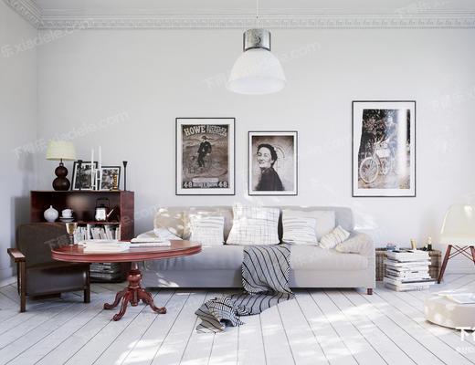 北欧沙发, 沙发组合, 现代沙发, 沙发茶几组合, 多人沙发, 布艺沙发
