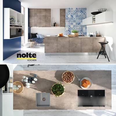 沙发, 橱柜, 摆件, 现代, 置物架