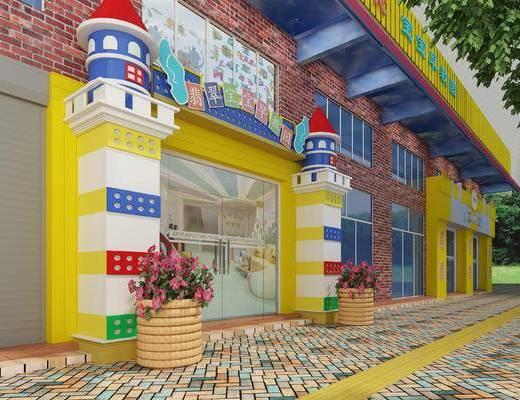 现代, 幼儿园, 门头