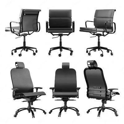 现代, 办公椅, 组合