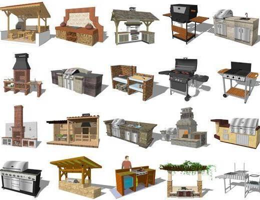 现代, 烧烤台, 烧烤架