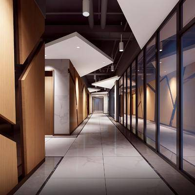 走廊, 过道, 办公区, 工业风
