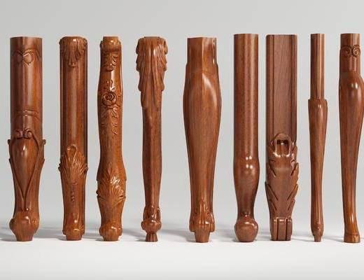 家具腿, 罗马柱, 雕花组合, 欧式
