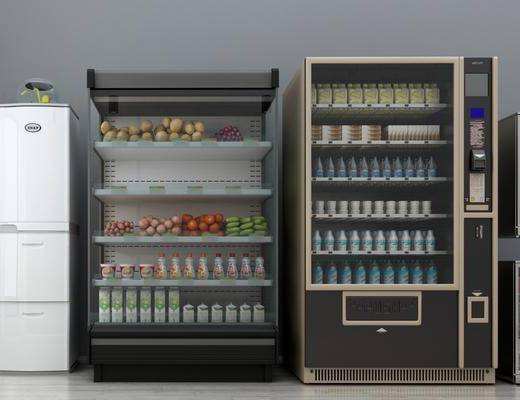 冰箱, 自动售货机, 现代