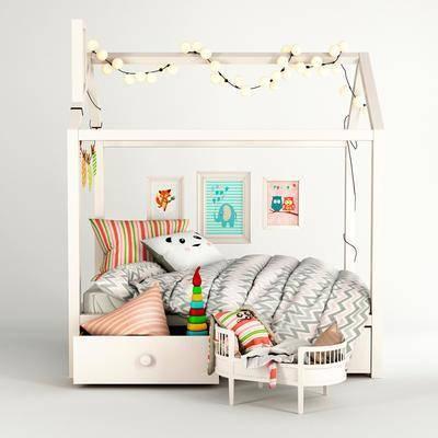 现代儿童床, 玩具, 挂饰