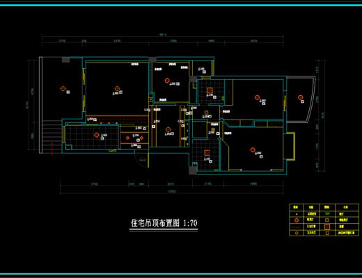 CAD施工图, 家装, 平面图