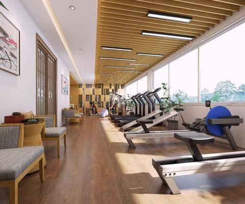 健身室, 活动中心, 中式