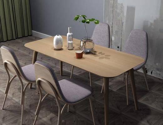 桌椅組合, 擺件組合, 北歐