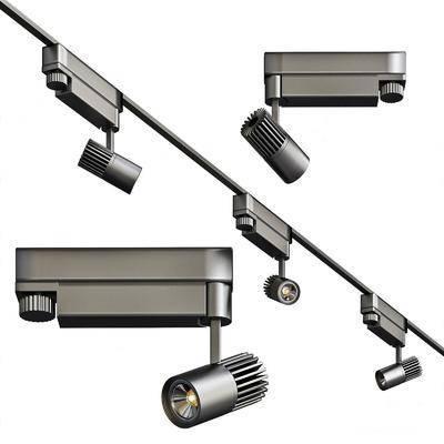 现代, 轨道射灯, 灯具