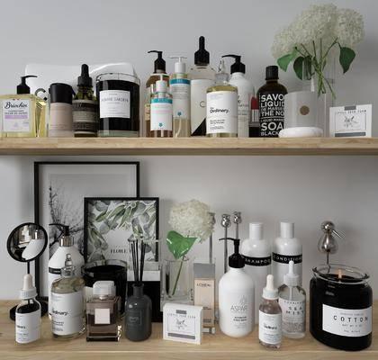 化妆品, 香水, 摆件组合