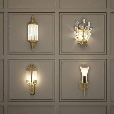 壁灯, 金属, 现代壁灯, 轻奢, 现代
