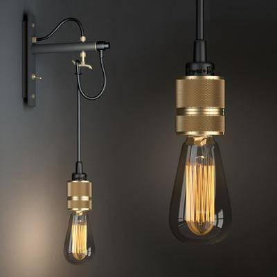 壁灯, 吊灯, 现代壁灯, 现代吊灯, 灯泡, 现代