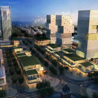 高层, 住宅, 鸟瞰, 现代建筑, 建筑, 现代