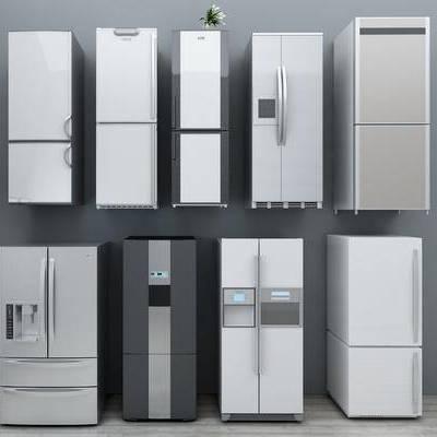 现代冰箱, 现代, 冰箱, 冰柜