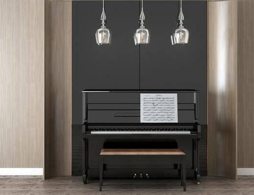 钢琴组合, 吊灯组合, 现代