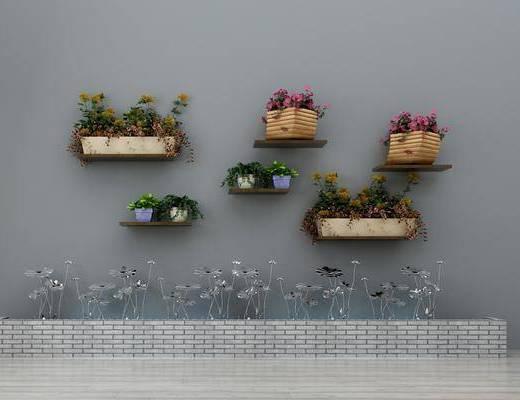 金属摆件, 墙饰, 花卉, 置物架, 绿植墙, 盆栽, 盆景, 装饰品摆件, 园林小品, 现代