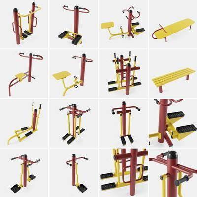 现代公共健身器材组合, 现代, 运动器材, 健身器材