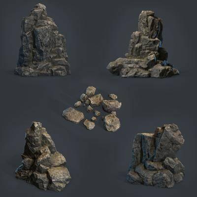 景观石头, 现代