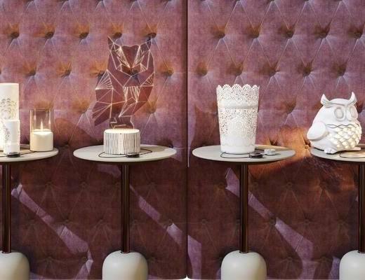 北欧, 台灯, 茶几